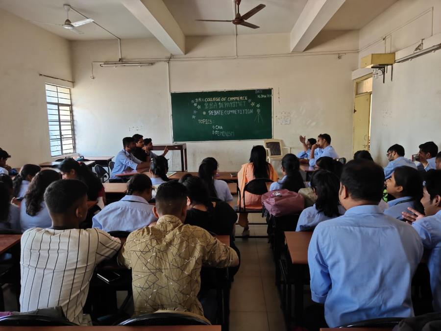 BBA Department organised Debate competition on 16 th January 2020