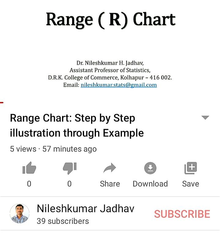 Range Chart: Step by Step illustration throug