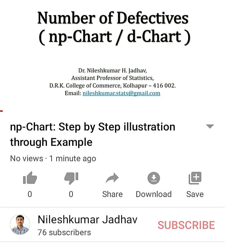 np-Chart: Step by Step illustration through E